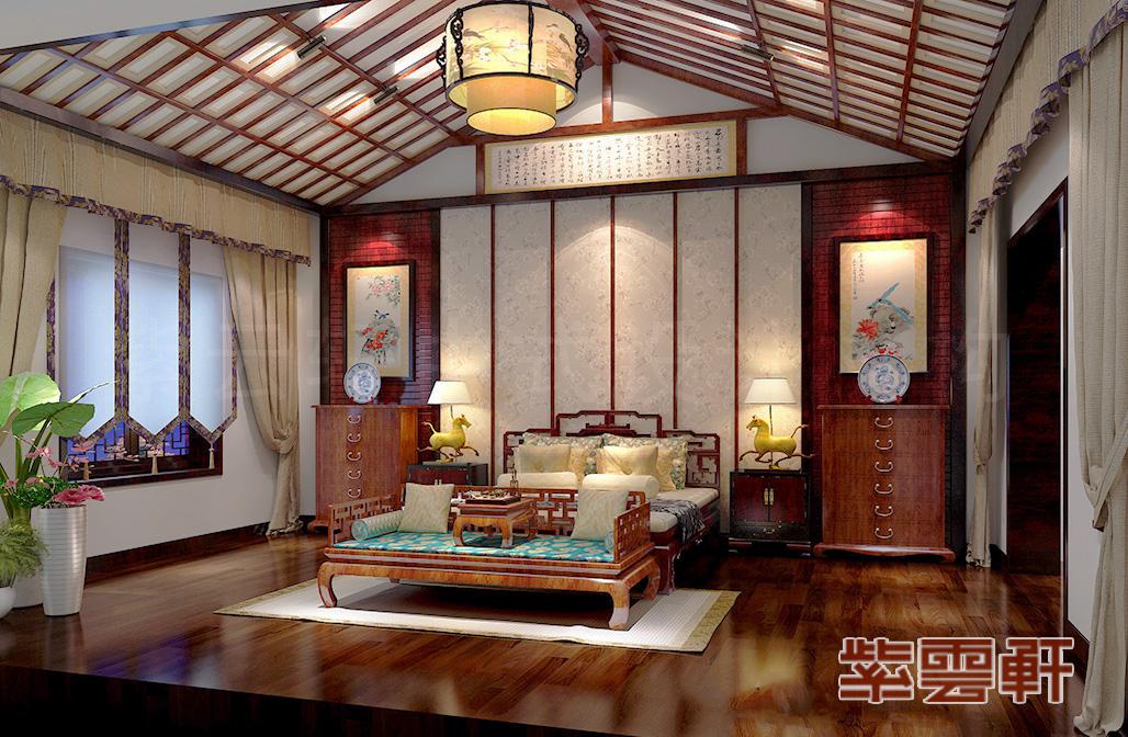 中式装修,客厅中式设计,罗汉榻设计