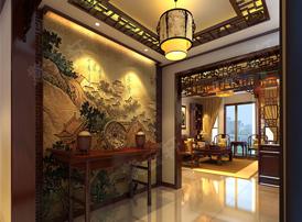 清幽雅致的门厅古典设计