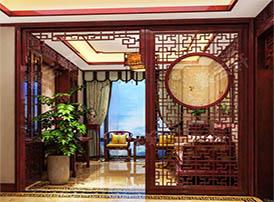 复古起居室设计图中体现的中式设计文化
