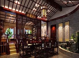 中式风格茶室中的文化情结