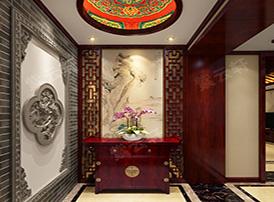 充满浓郁的文化气息的中式风格门厅