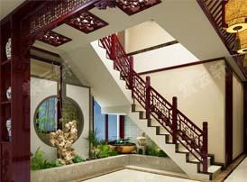 彰显美学内涵的楼梯中式装修
