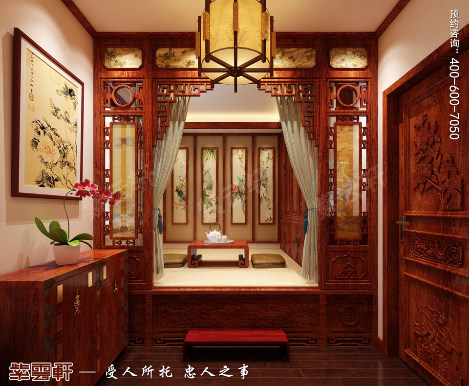 暖阁现代中式装修风格效果图
