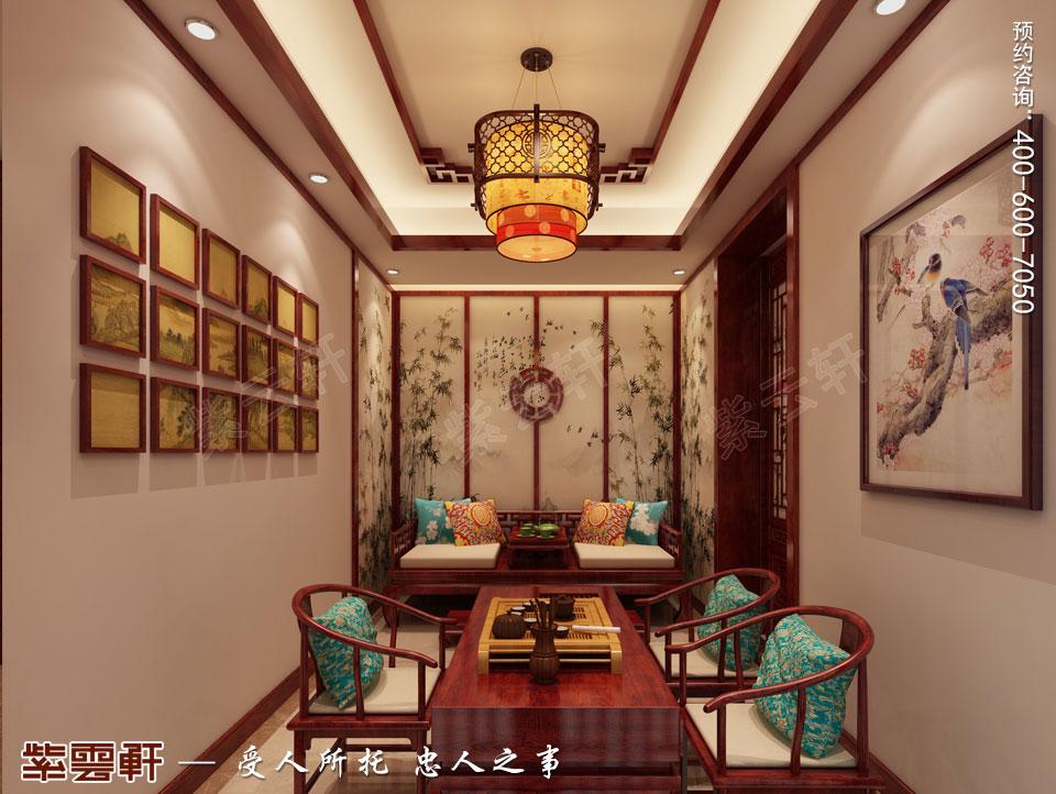 茶室简约中式装修效果图