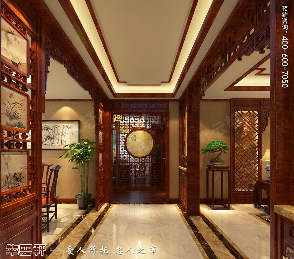 走廊现代中式装修风格效果图
