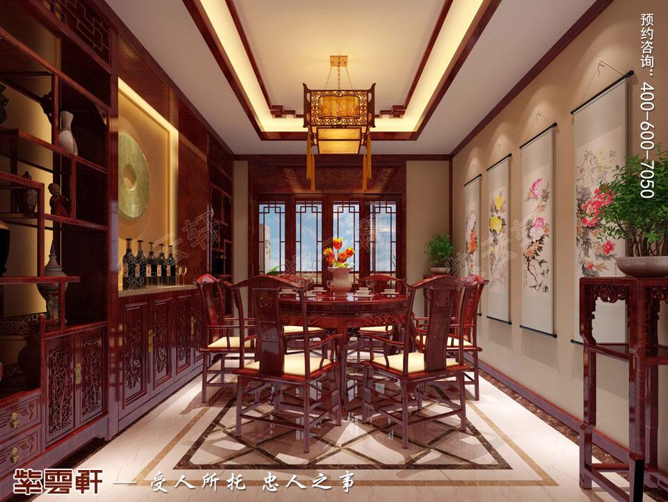 餐厅现代中式装修效果图