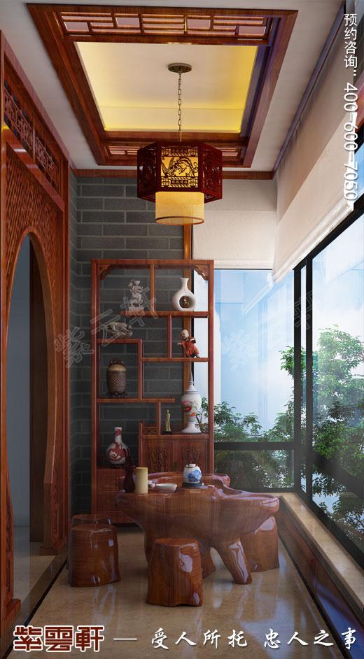 阳台现代中式装修风格效果图