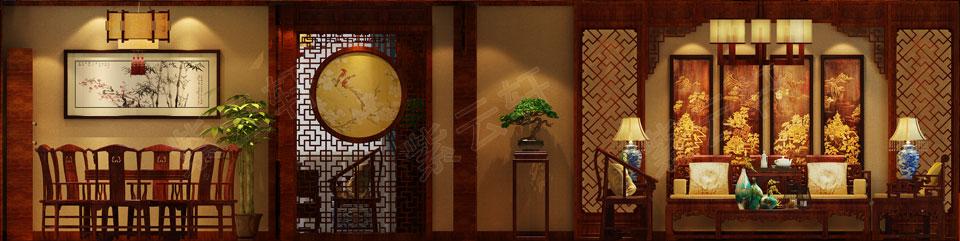 客厅现代中式装修风格效果图