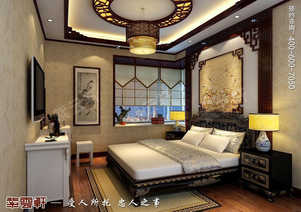 简约古典中式装修卧室效果图