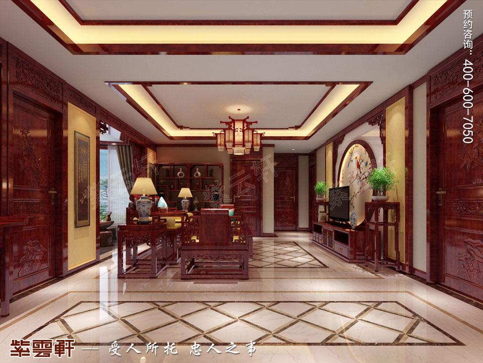 客厅现代中式装修效果图