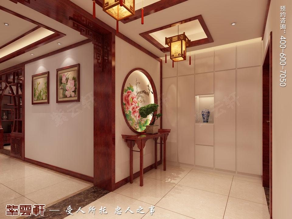 门厅简约中式装修效果图