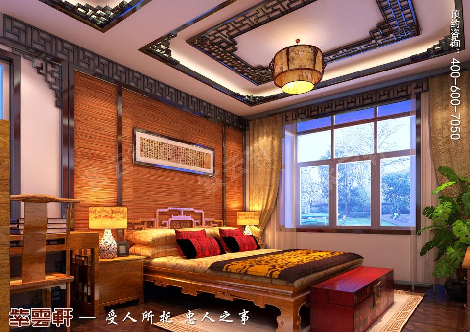 简约古典中式装卧室效果图