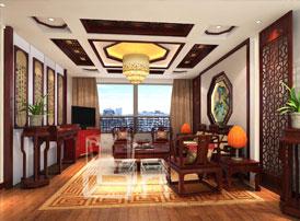 青岛古典中式设计大阳城集团娱乐app网址案例丨清秀华贵的中式雅居