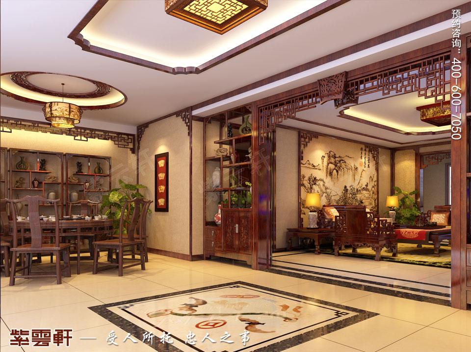 门餐厅现代中式装修图片