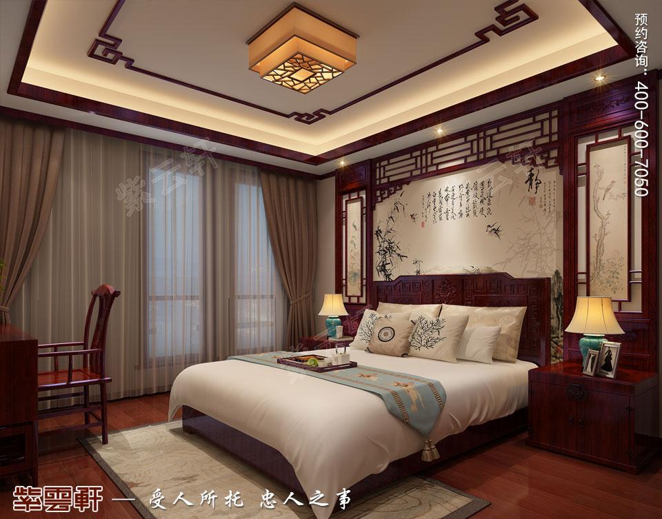 中式宫廷风客卧效果图