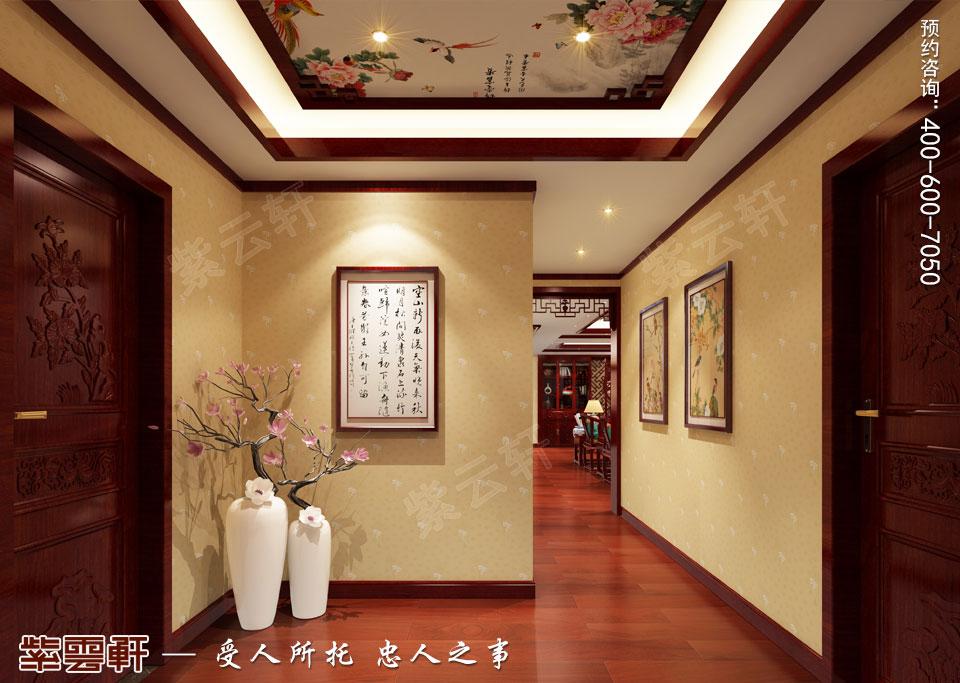 走廊仿古中式装修风格效果图