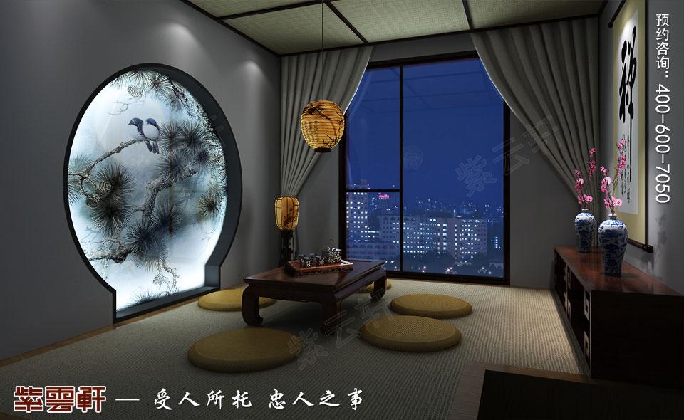 茶室复古中式风格装饰效果图