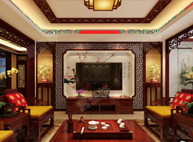 长沙湘江平层大宅复古中式装修效果图案例,沉浸在如诗如画的意境之中