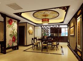 哈尔滨平层房屋中式古典装修效果图,彰显中式设计之华美清雅