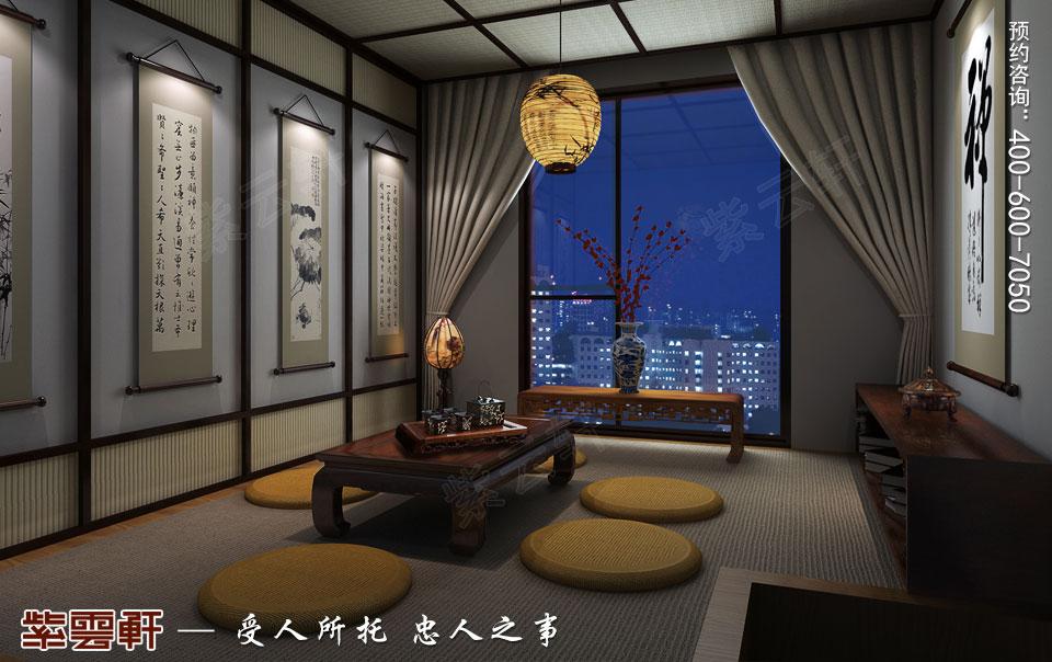 顶楼景观房-静室 中式装修