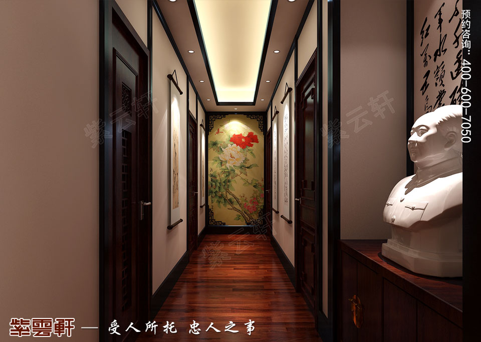 走廊新中式装修风格设计效果图