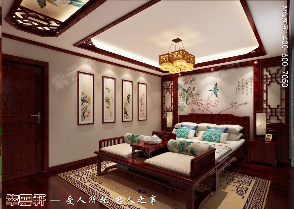 卧室中式装修风格效果图
