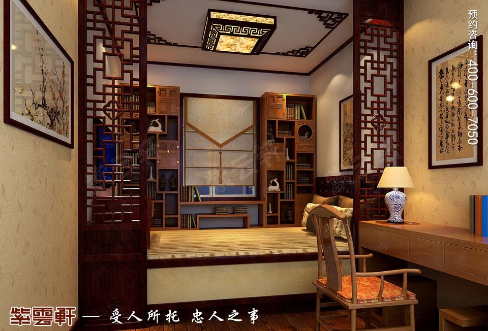 新中式风格装修暖阁效果图
