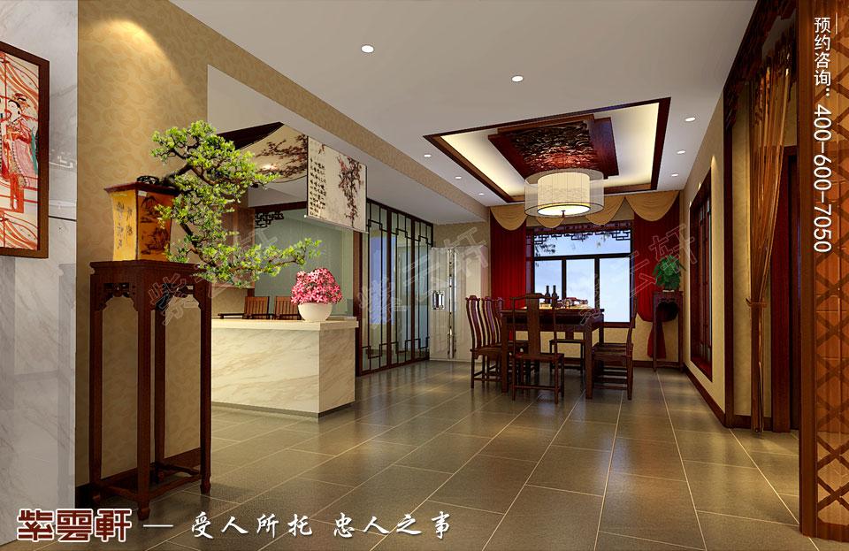 简约中式装修餐厅设计效果图