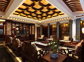丹东大平层住宅复古中式设计装修效果图 尽享家居生活的安然自在