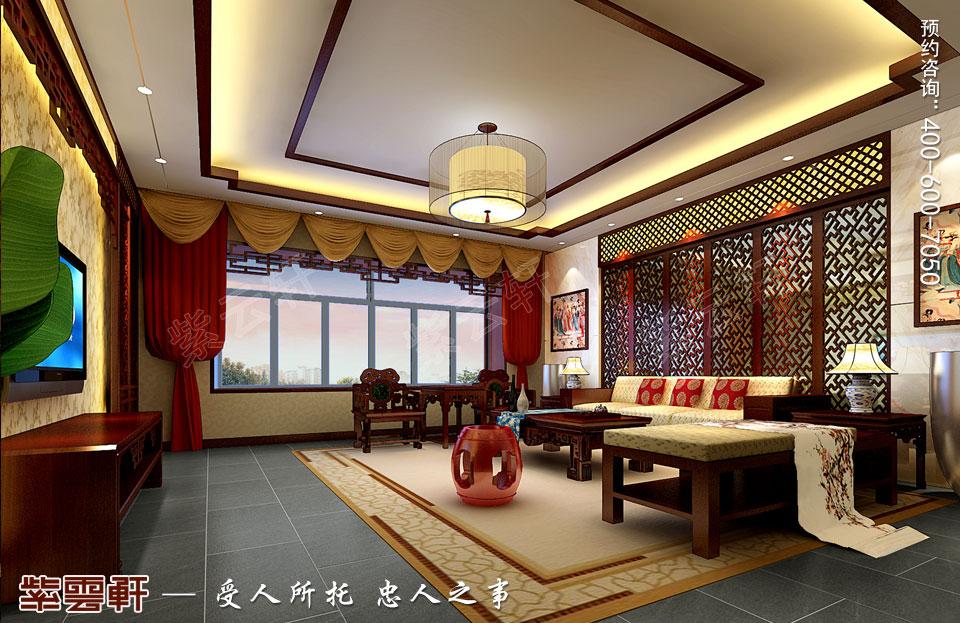 简约中式装修客厅设计效果图