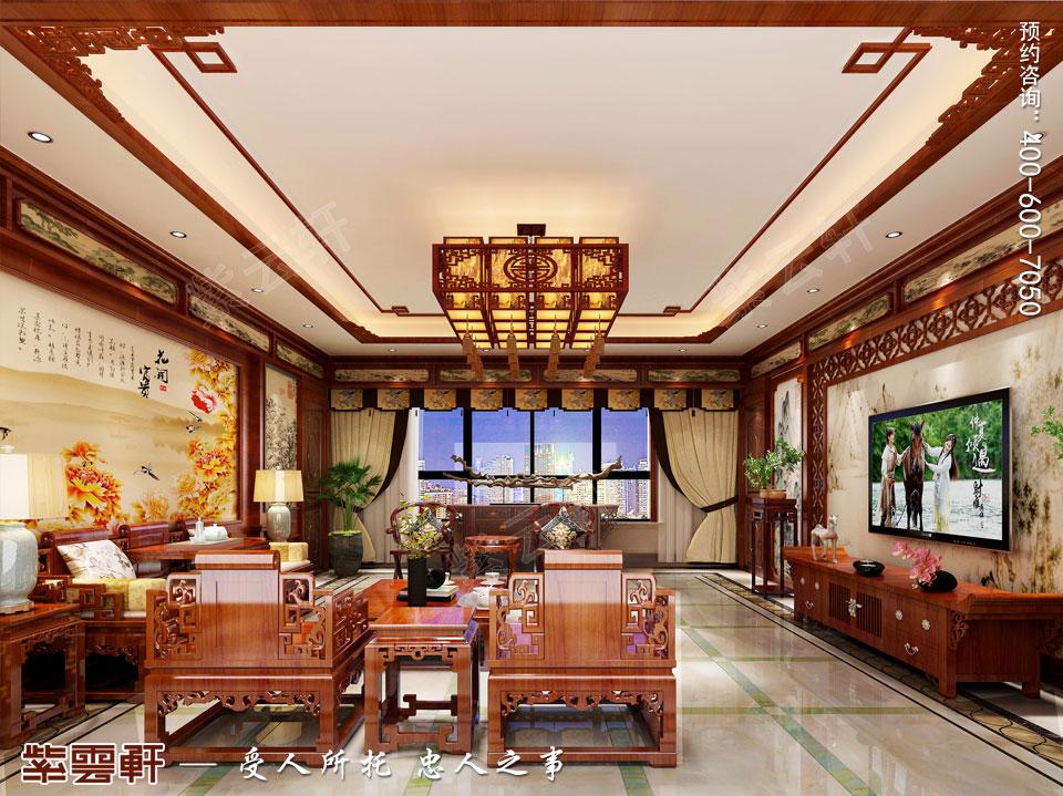 简约古典中式客厅效果图