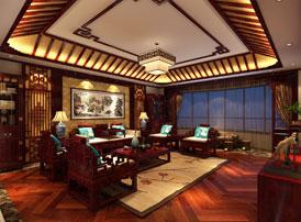 北京中式古典风格平层大宅装修效果图,高贵华美的生活品位