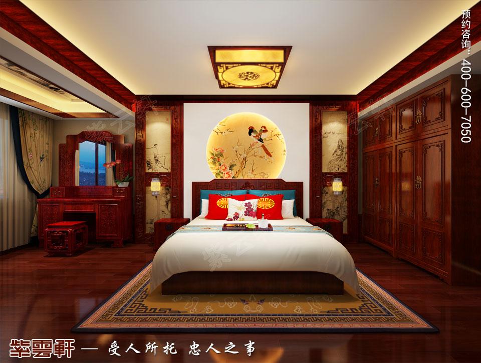 中式宫廷风老人房效果图