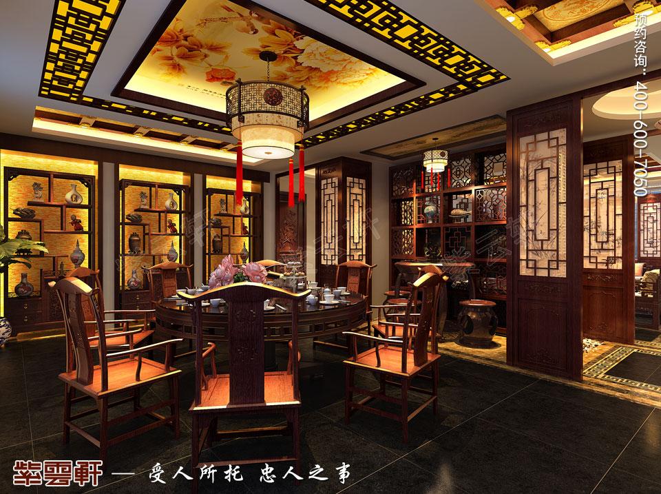 大餐厅中式装修图