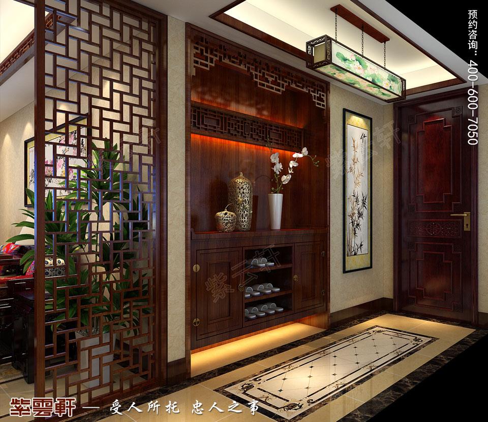 门厅<a href=http://www.bba34.com/fuguzhongshi/ target=_blank class=infotextkey>复古中式风格</a>装饰效果图