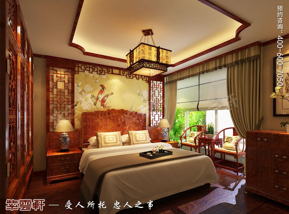 客房现代简约中式装修效果图