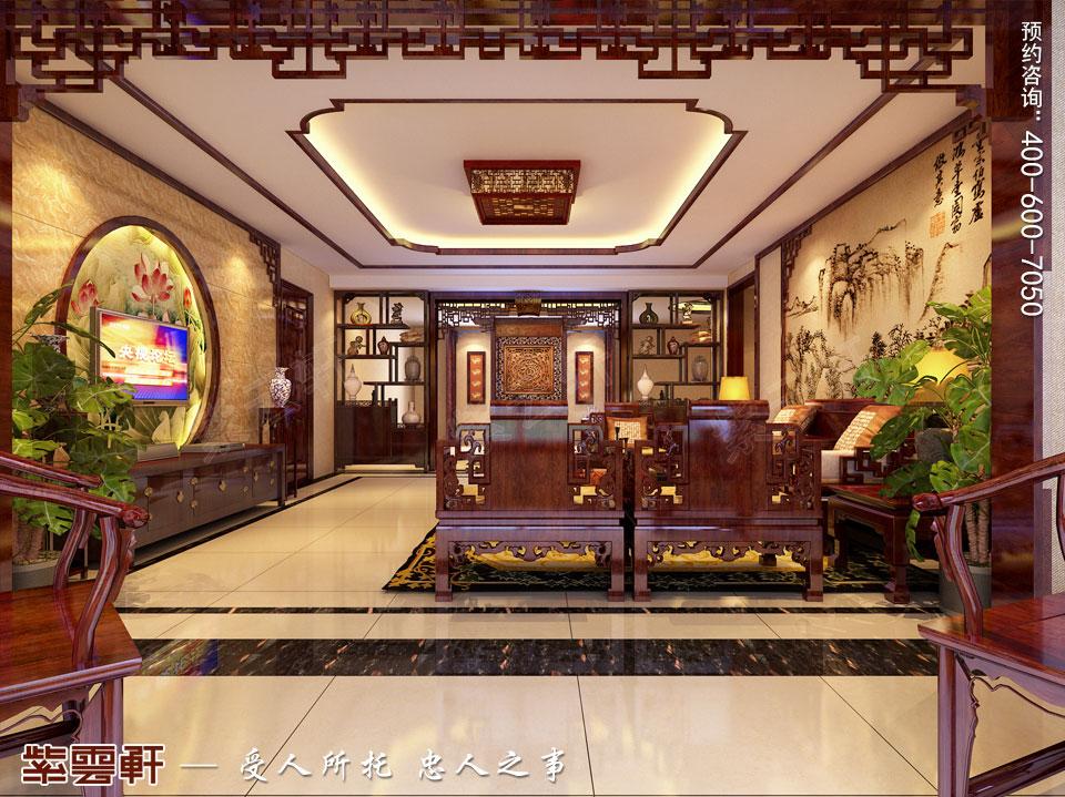 客厅现代中式装修图片