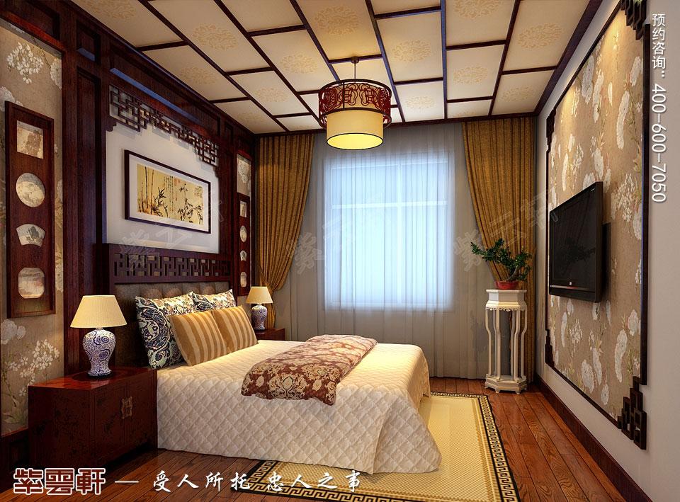 新中式风格装修卧室效果图