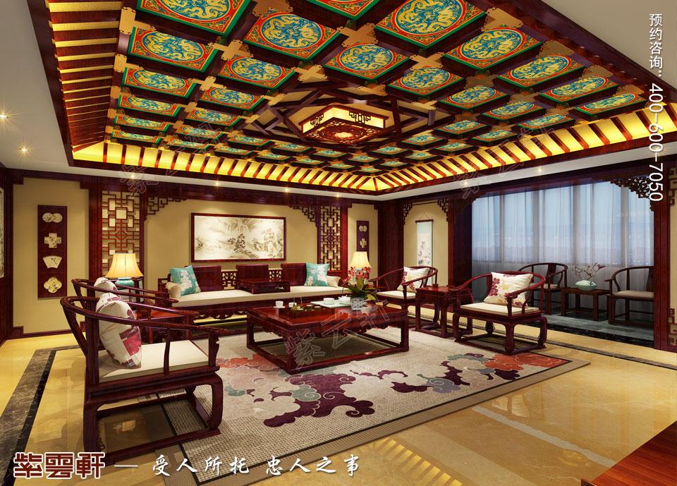 中式宫廷风客厅效果图