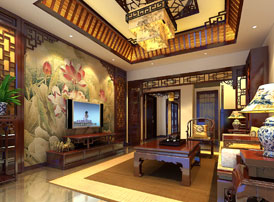 北京洋房顶楼设计古典中式装修效果图,端庄温和 美不胜收