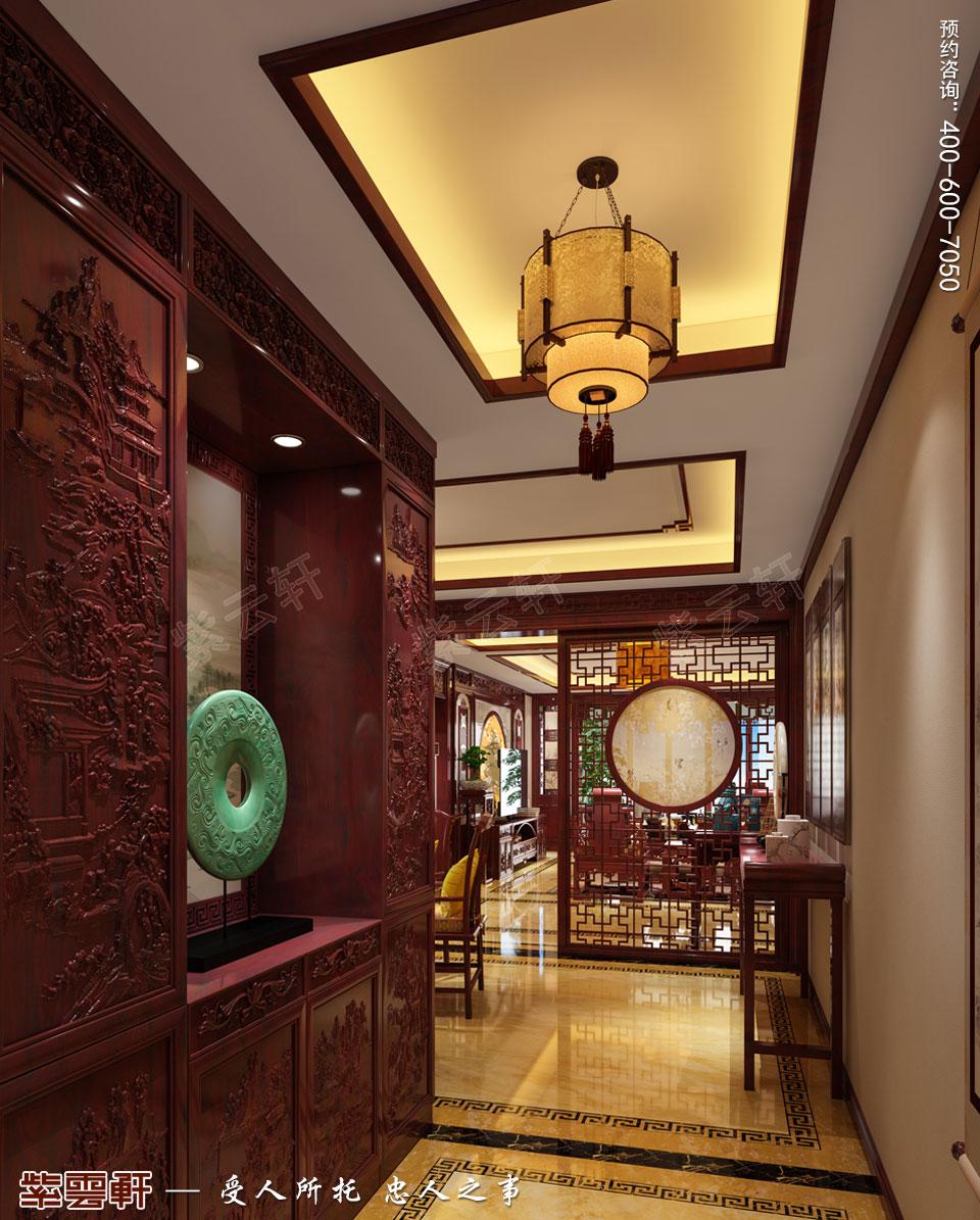 门厅古典中式装修效果图