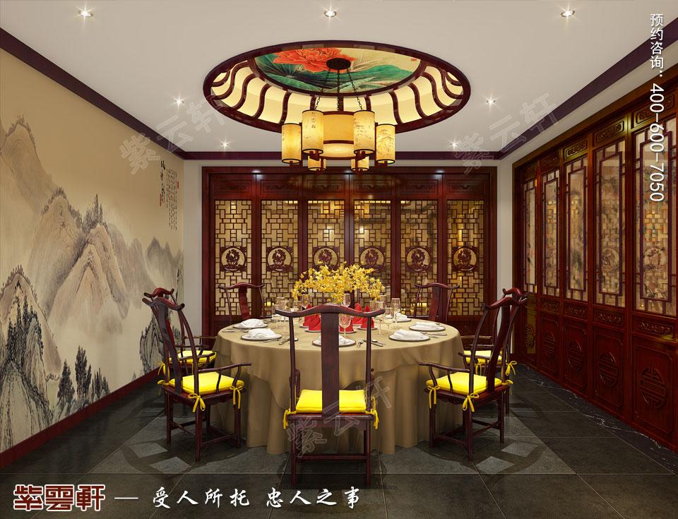 现代中式风格装修餐厅效果图