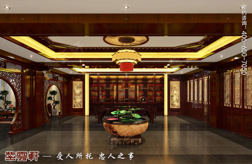 现代中式风格装修休息室效果图