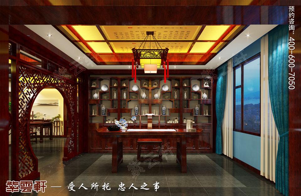 现代中式风格装修画室效果图