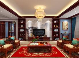 山西平层大宅现代中式风格装修效果图欣赏--钟灵疏秀,清新淡雅