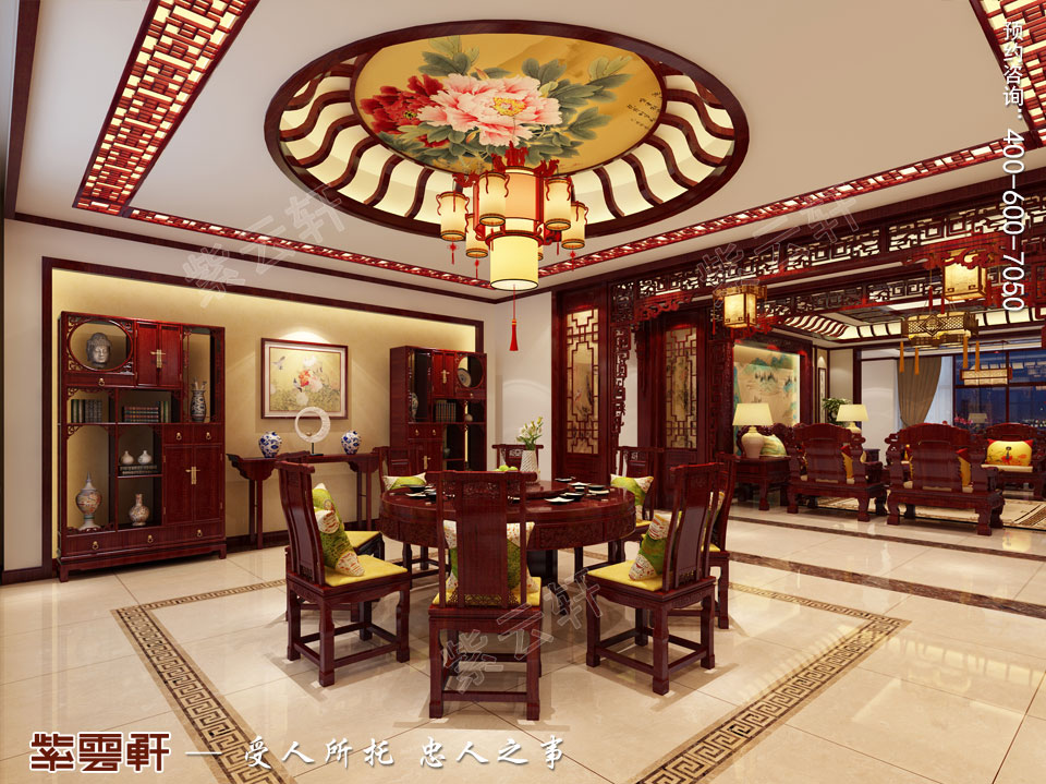 餐厅现代中式装修效果图.jpg