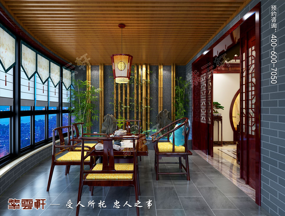 茶室中式装修图片