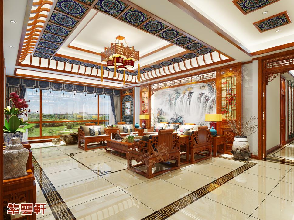 乌兰察布平层现代中式风格装修 以华彩争胜 于静雅建功