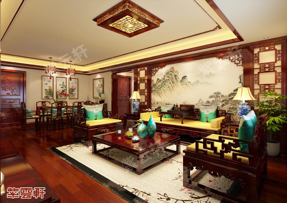 武汉李先生高层住宅中式装修设计效案例赏析
