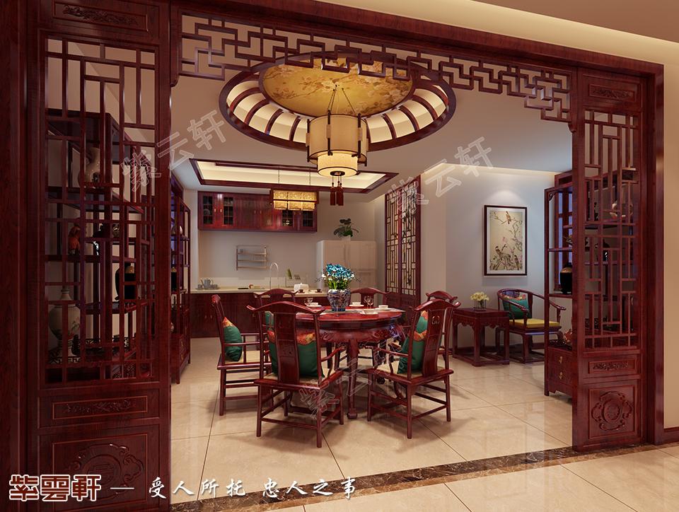 古典静谧之重庆别墅中式装修 古韵生香